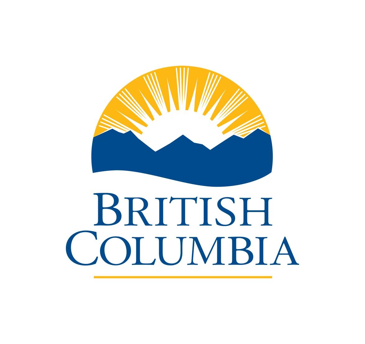 Logo du gouvernement C-B soliel sur les montangnes
